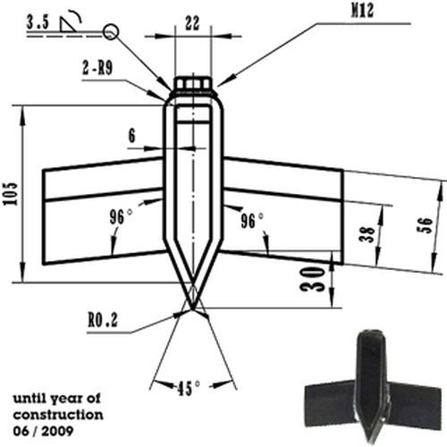 ATIKA ErsatzteilSterngriffschraube M12 x 25 für Holzspalter ASP 8 N ASP 10